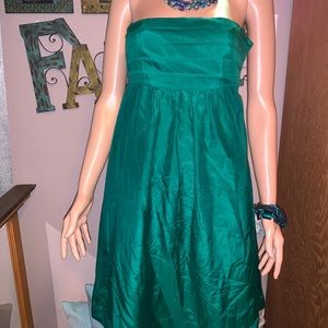 Banana Republic SZ 0 emerald green event dress NEW